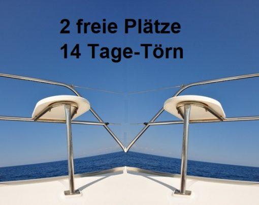 2 freie Plätze auf 14-tägigem Segeltörn